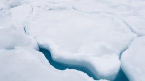 Sprung im Eis Stockbild