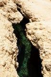 Sprung nach Erdbeben stockbild