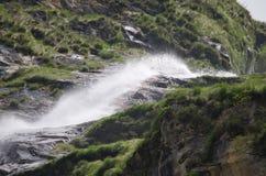 Sprungbrett für den Wasserfall Stockfotografie