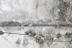 Sprungsbeschaffenheit auf altem Zementwandhintergrund Lizenzfreie Stockfotografie