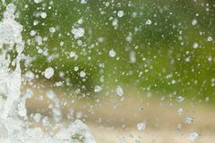 Spruzza dell'acqua in natura Fotografia Stock