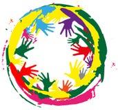 Spruzza di colore e delle mani royalty illustrazione gratis