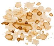 Spruzza e macchie isolate su fondo bianco Fotografia Stock Libera da Diritti