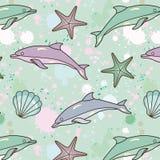 Spruzzare-delfino-reticolo illustrazione vettoriale