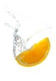 Spruzzata arancio fresca Fotografia Stock Libera da Diritti