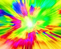 Spruzzata bizzarra di colore immagini stock libere da diritti
