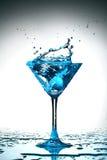 Spruzzata blu del coctail Immagine Stock