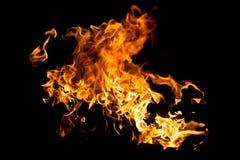 Spruzzata calda del fuoco Fotografia Stock