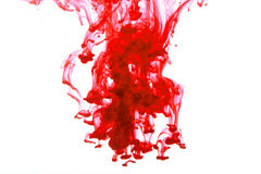 Spruzzata colorata dell'inchiostro Fotografie Stock Libere da Diritti