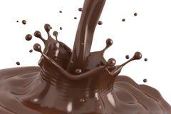 Spruzzata del cioccolato Immagini Stock