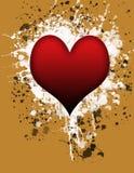 Spruzzata del cuore Fotografie Stock