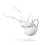 Spruzzata del latte Fotografie Stock Libere da Diritti