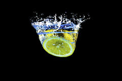 Spruzzata del limone Fotografie Stock Libere da Diritti
