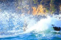 Spruzzata del mare Fotografia Stock