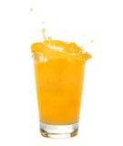 Spruzzata del succo di arancia Immagini Stock Libere da Diritti
