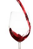 Spruzzata del vino rosso immagine stock