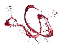 Spruzzata del vino rosso Immagini Stock Libere da Diritti