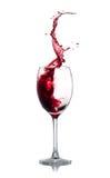 Spruzzata del vino rosso Fotografia Stock Libera da Diritti