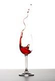 Spruzzata del vino rosso Immagine Stock Libera da Diritti