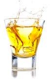 Spruzzata del whisky Immagini Stock Libere da Diritti