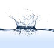 Spruzzata dell'acqua Immagini Stock