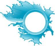 Spruzzata dell'acqua blu Fotografie Stock Libere da Diritti