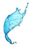 Spruzzata dell'acqua blu Immagini Stock Libere da Diritti