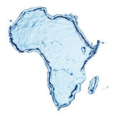 Spruzzata dell'acqua dell'Africa Fotografie Stock Libere da Diritti