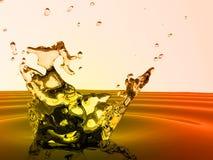 Spruzzata dell'acqua fredda Fotografie Stock Libere da Diritti
