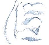 Spruzzata dell'acqua isolata Fotografie Stock