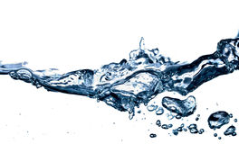 Spruzzata dell'acqua isolata su bianco immagine stock