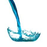 Spruzzata dell'acqua su fondo bianco isolato Fotografia Stock Libera da Diritti