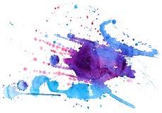 Spruzzata dell'acquerello Fotografie Stock Libere da Diritti