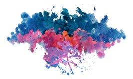 Spruzzata dell'acquerello isolata blu porpora illustrazione vettoriale