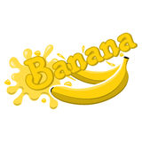 Spruzzata della banana di vettore Fotografia Stock