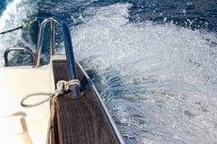 Spruzzata della barca Fotografie Stock