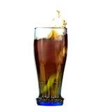 Spruzzata della coca-cola Fotografia Stock