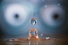 Spruzzata della goccia di acqua Fotografia Stock Libera da Diritti