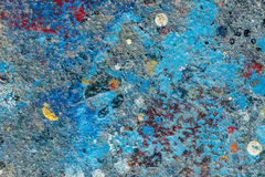 Spruzzata della pittura ad olio sul pavimento Immagini Stock Libere da Diritti