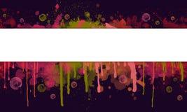 Spruzzata della pittura ed insegna astratte del gocciolamento con lo spazio del testo illustrazione di stock