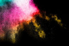 Spruzzata della polvere di colore Immagini Stock Libere da Diritti