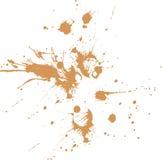 Spruzzata della sporcizia su documento o su superficie piana Immagini Stock