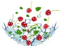 Spruzzata delle ciliege Fotografia Stock