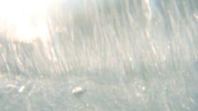 Spruzzata delle onde della spuma video d archivio