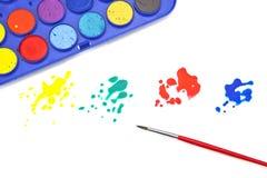 Spruzzata di colore Fotografia Stock