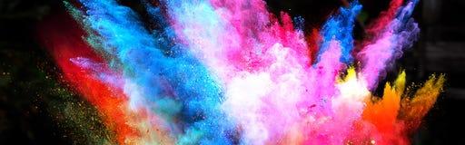 Spruzzata di colore nei precedenti scuri illustrazione di stock