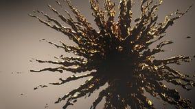 Spruzzata di esplosione dell'oro Fotografie Stock