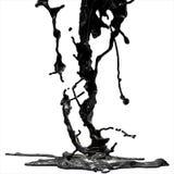 Spruzzata di olio combustibile nero illustrazione di stock