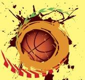 Spruzzata di pallacanestro Fotografia Stock Libera da Diritti