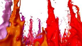 Spruzzata di pittura liquida sull'altoparlante di musica animazione 3d in 4k 29 illustrazione di stock